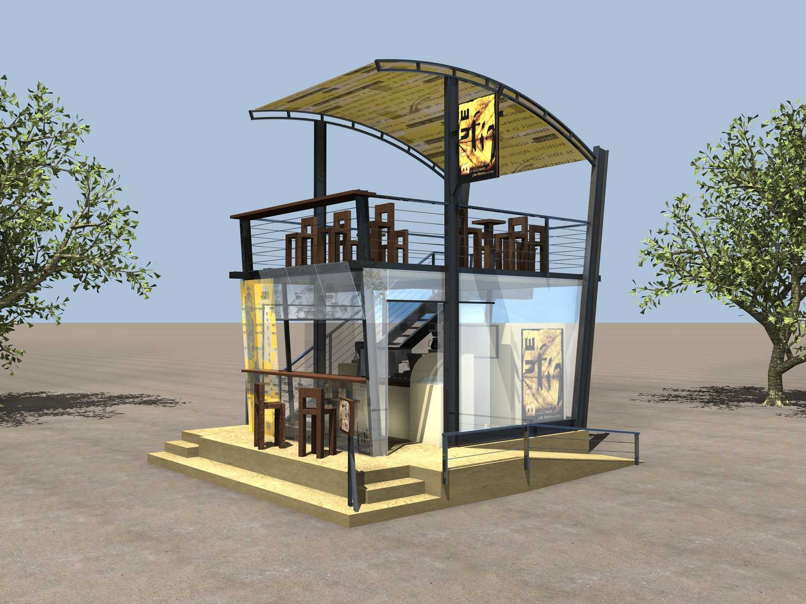 Outdoor Coffee Kiosk-1