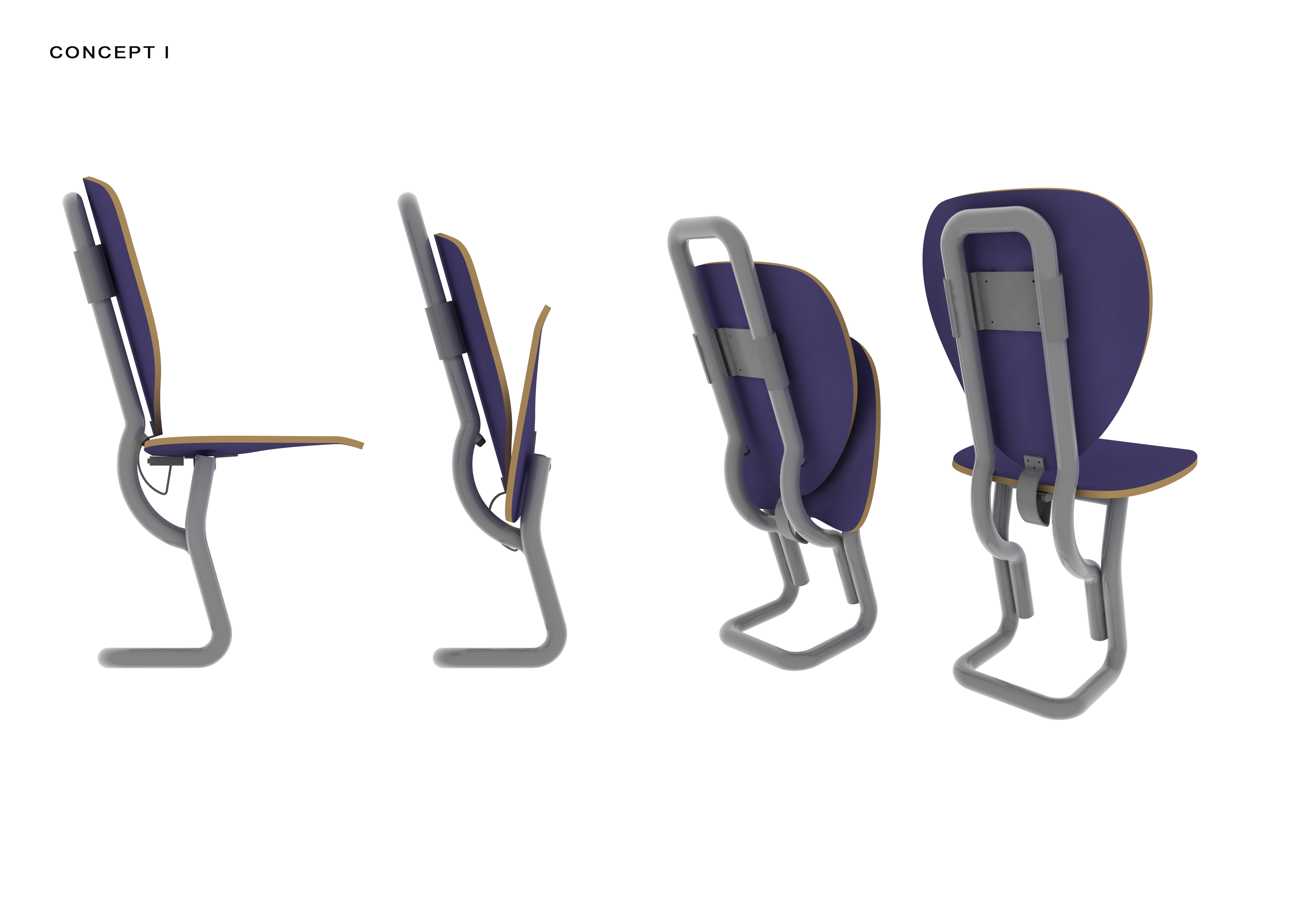 Folding Lecture Chair System-1