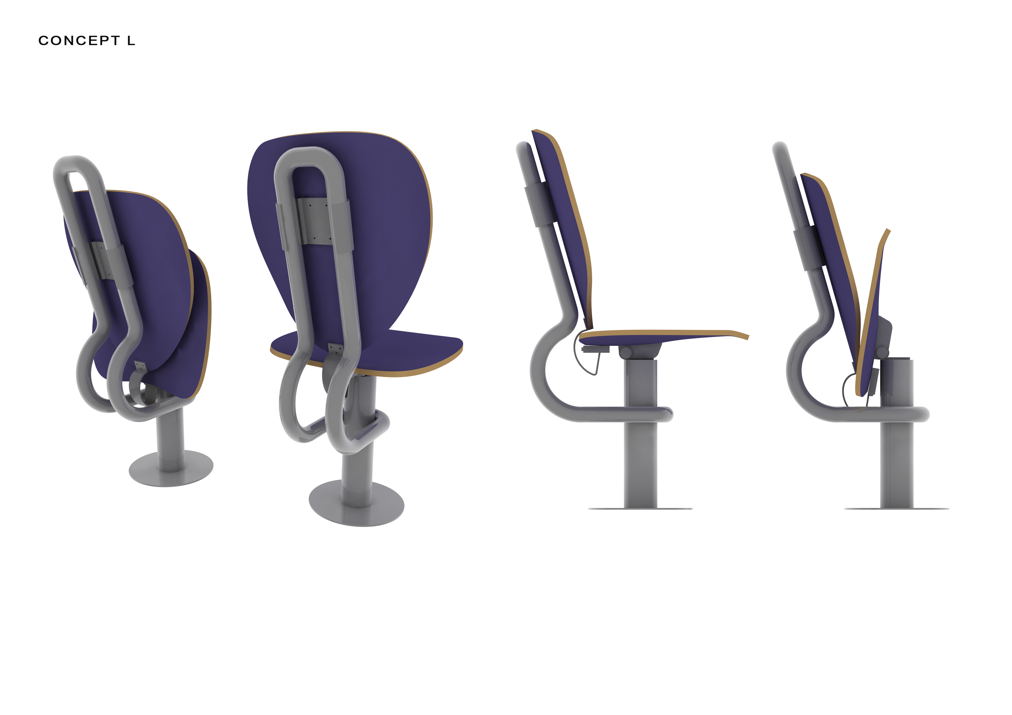 Folding Lecture Chair System-2