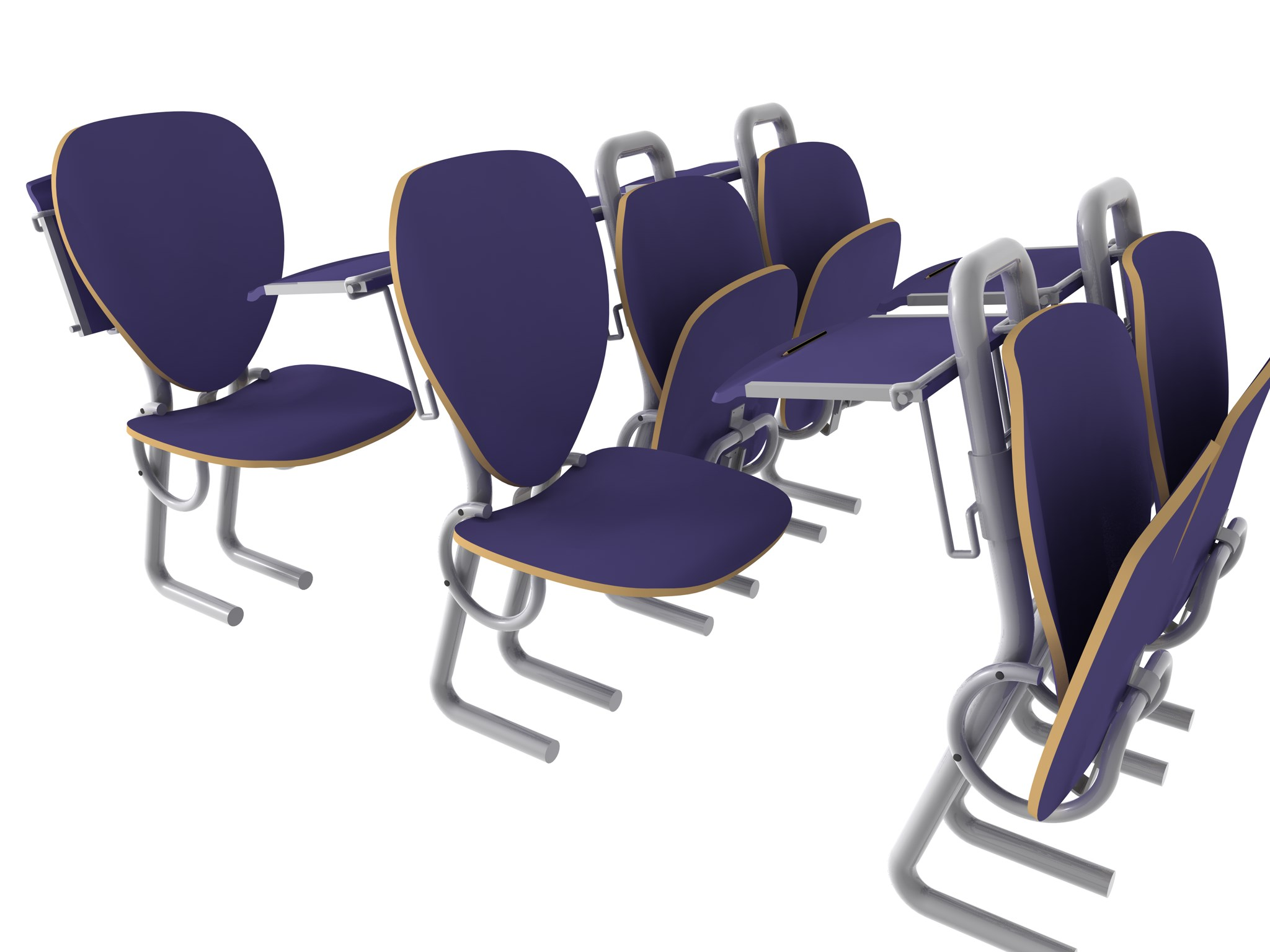 Folding Lecture Chair System-5