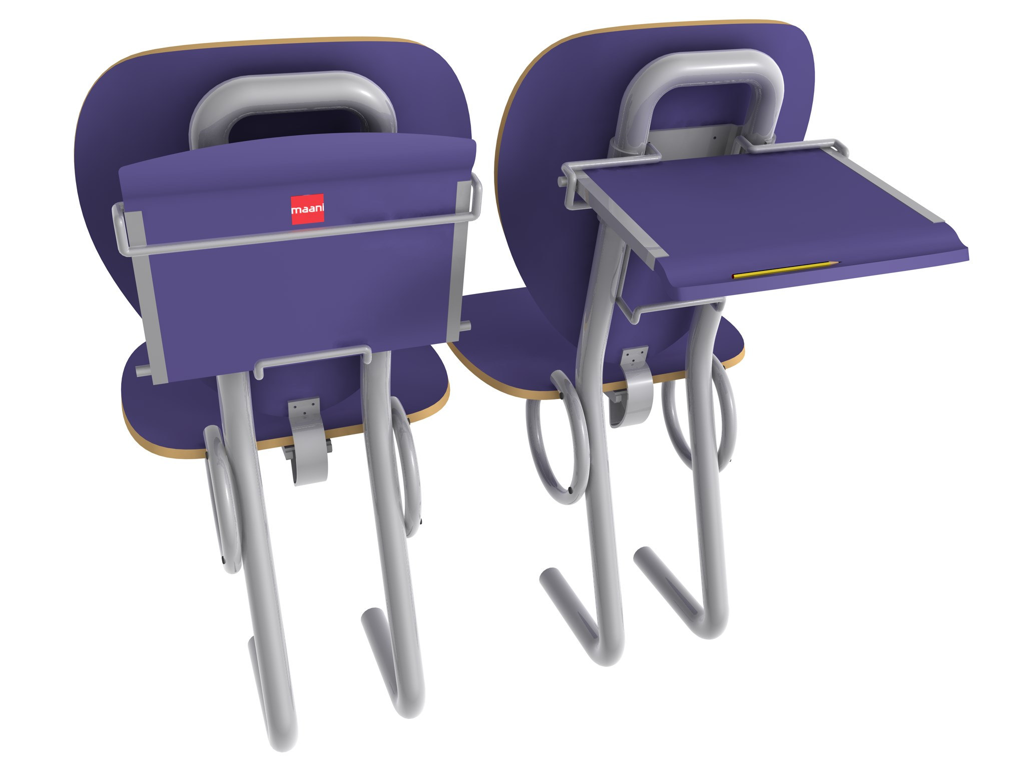 Folding Lecture Chair System-4