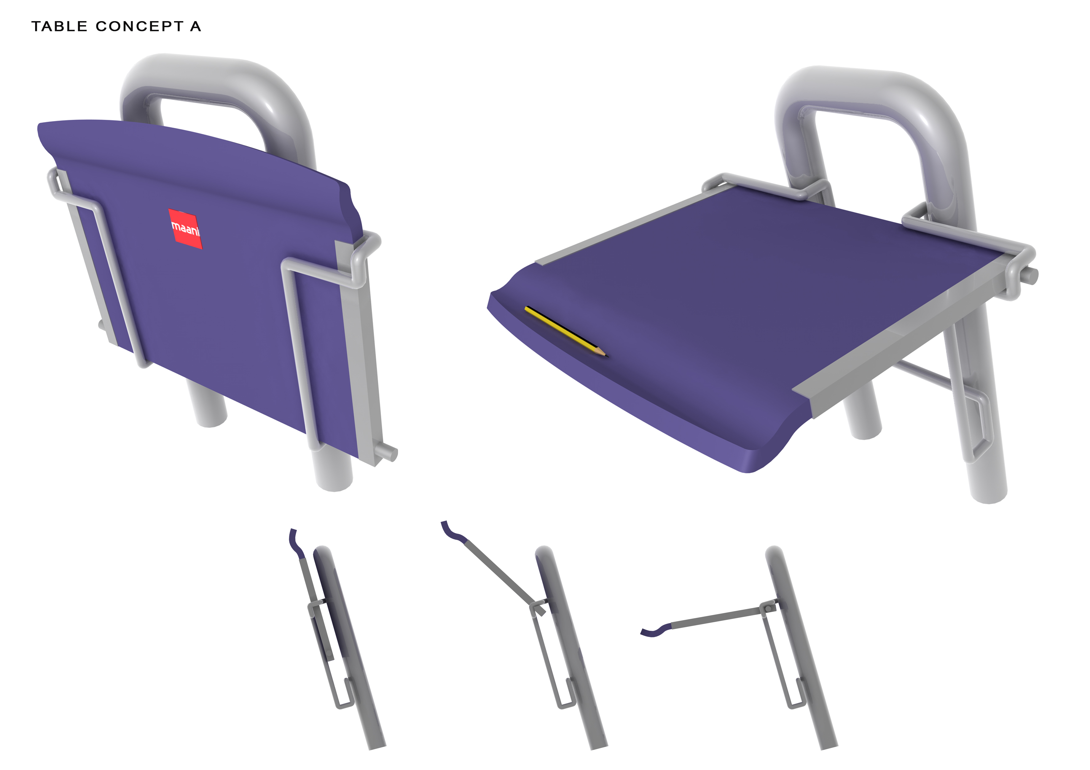 Folding Lecture Chair System-3